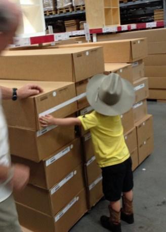 Measuring at IKEA.