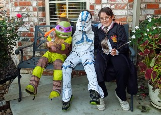Donatello (Colt), Clone Trooper (John), Harry Potter (Caroline)