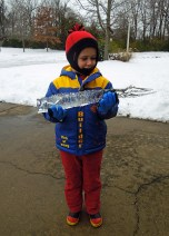 Icicle from the house
