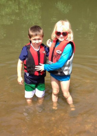 Buffalo River Float   Scout and Colt