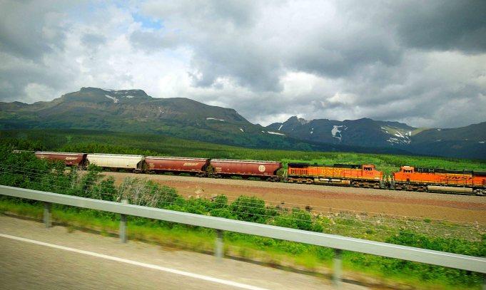 Railway through the mountains