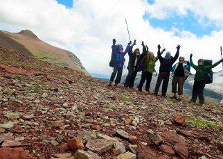 Group photo at Red Gap Pass