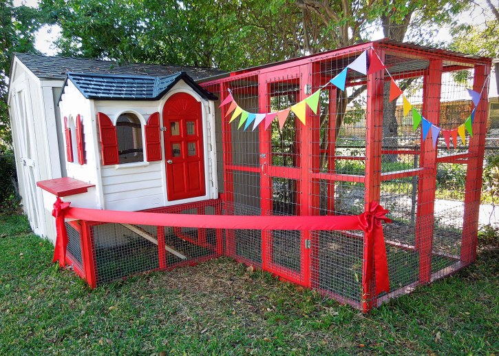 Chicken Coop Ribbon Cutting