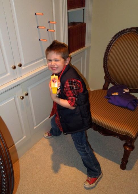 Colt got Uncle Paige a new toy...