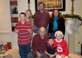 Ninny and Pop with the grandkids