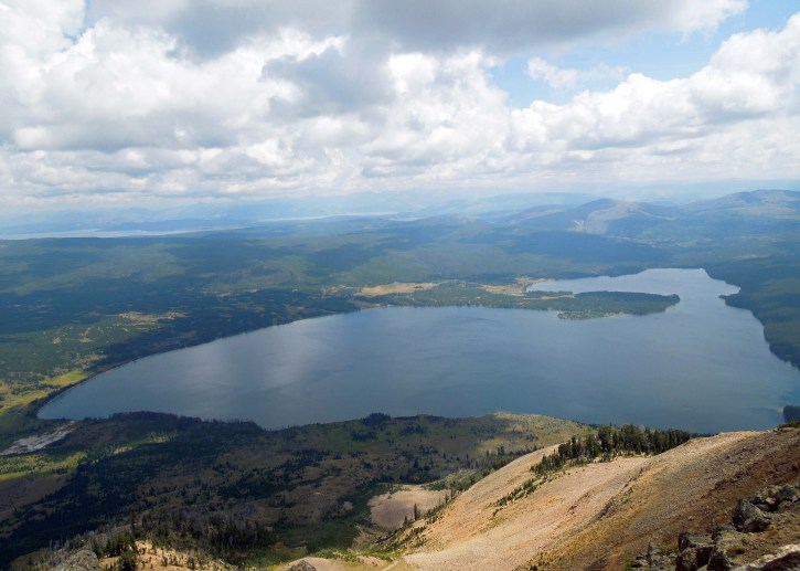 "Heart Lake, from Mt. Sheridan. Can you see why it's called ""Heart"" Lake?"