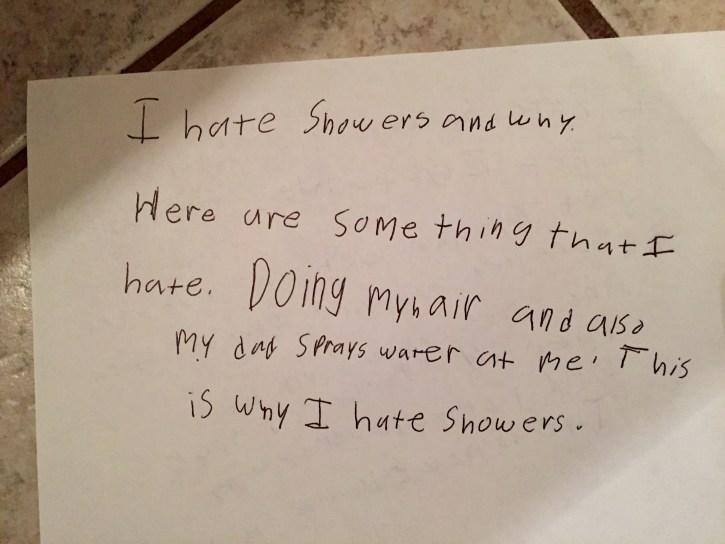 Shower Paragraph: Take 1