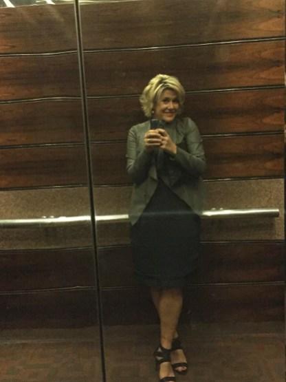 Goofy elevator selfie