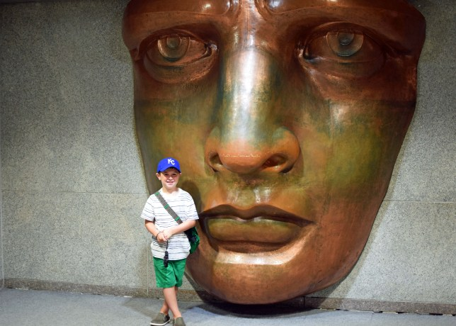 A recreation of her face inside the museum.