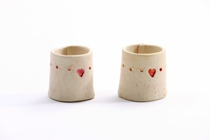 "two ""Home is…"" Tea Light Candle Holder"