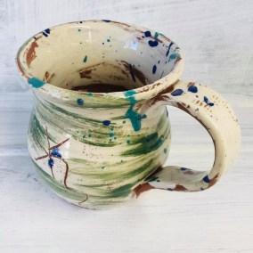 brushed green mug by sarah monk ceramicselevated view