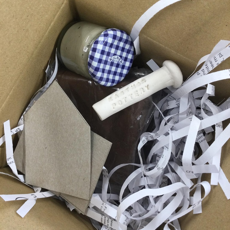 pottery materials for the digital craft festival in packaging box