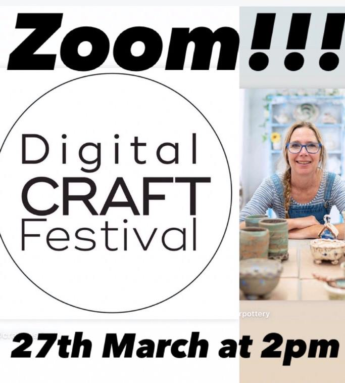 zoom layout with digital craft festival and sarah monk ceramics