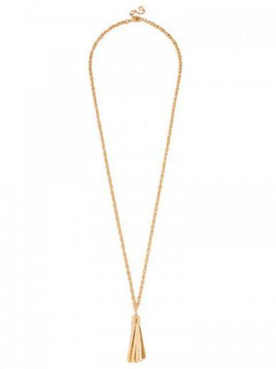Bauble Bar Gold Tassel Pendant Necklace