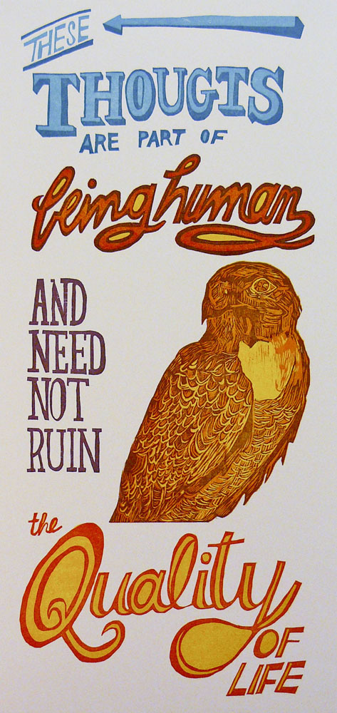 woodcut poster Quality of Life