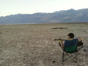 Sara in Saline Valley =- Taken by Mimi Hoxie with her cell phone
