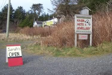 Sign - Haida Arts and Jewellery Masset BC