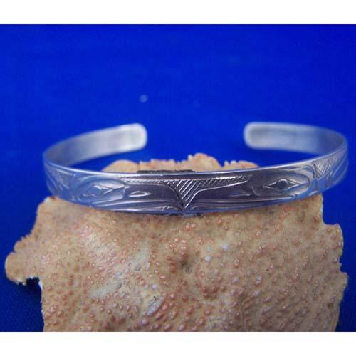 Silver Eagle Bracelet by Chris Russ