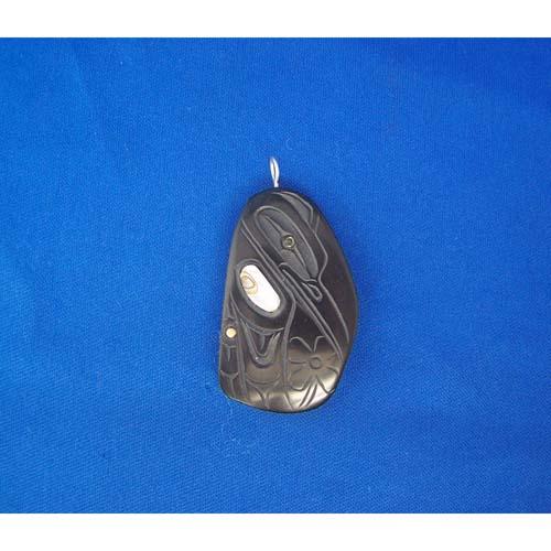 Argillite Hummingbird Pendant by Cooper Wilson