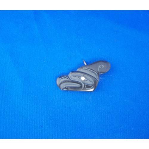 Argillite Thunderbird Pendant by Cooper Wilson