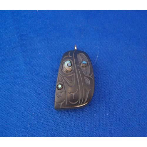 Argillite Raven Pendant by Cooper Wilson