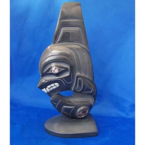 Argillite Killer Whale Sculpture by Cooper Wilson