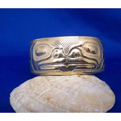 14K Gold Frog Bracelet by Derek White