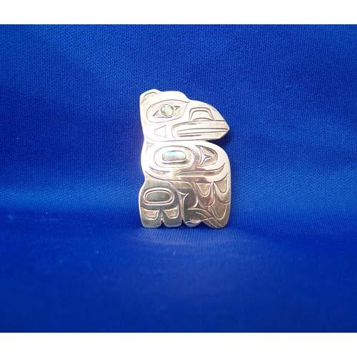 Silver Raven Pendant by Derek White