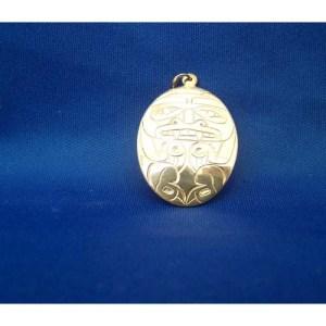 Silver Bear Pendant by Derek White