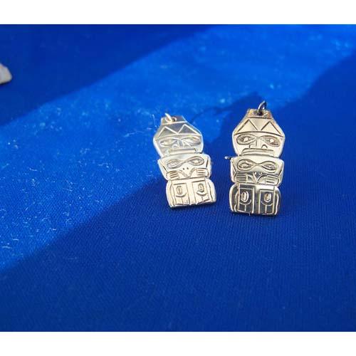 Slver Watchman Earrings by Derek White