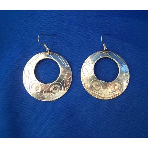 Silver Frog Earrings by Derek White