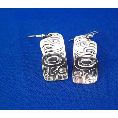 Silver Eagle Earrings by Derek White