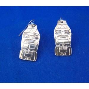 Silver Watchman Earrings by Derek White