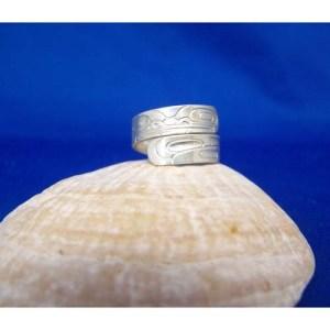 Silver Frog Ring by Derek White