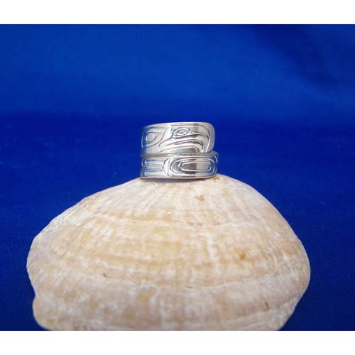 Silver Eagle Wrap Ring by Dered White