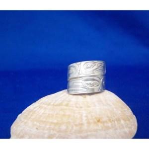 Silver Ravne Eagle Ring by Derek White
