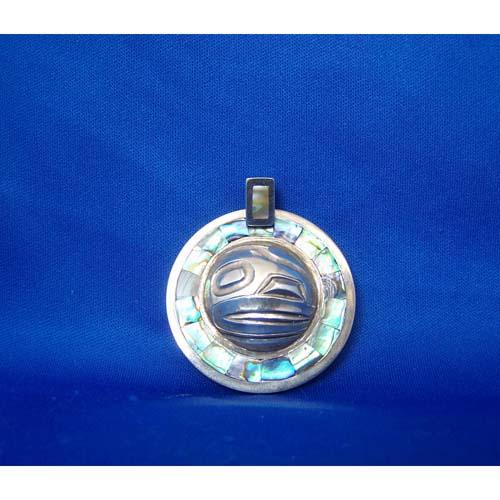 Silver Two Sided Raven Pendant by Derek White