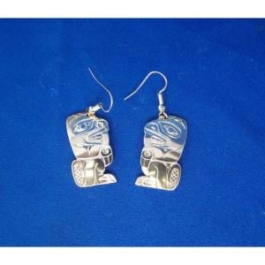 Silver Beaver Earrings by Derek White
