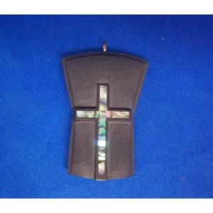 Argillilte Shield Cross Pendant by Donnie Edenshaw