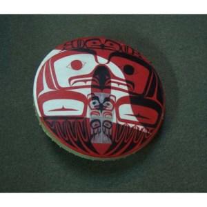 Painted Eagle design Drum by Josh Davidson
