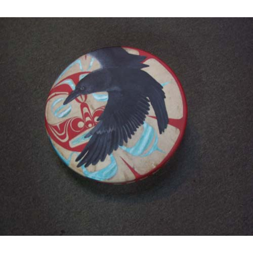 Painted Raven design Drum by Josh Davidson