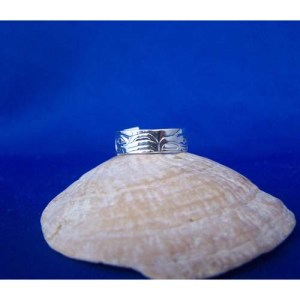 Silver Raven and Eagle Ring by Fred Wilson