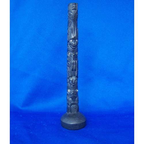 Argillite Minature Totem by Fred Wilson