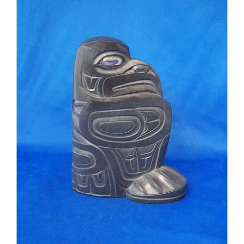Aragillite Raven Sculpture by Fred Wilson