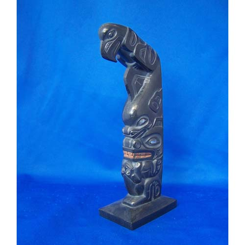 Argillite Totem by Fred Wilosn