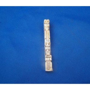 Cast Silver Totem Pendant by Fred Wilson