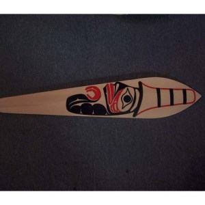 Red Cedar Watchman Paddle by Wayne Edenshaw - Haida Arts and Jewellery Masset BC