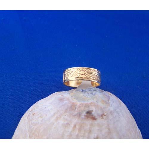 14K Gold Hummingbird Ring by Carmen Goertzen