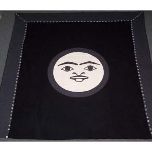 Moon Design Button Blanket by Natasha Wilson