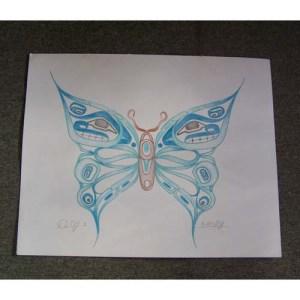 Original Drawing of Butterfly by David Jones